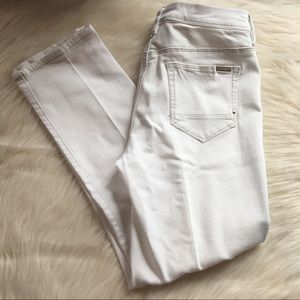 Chico's So Slimming white jeans crop 00 2 stretch